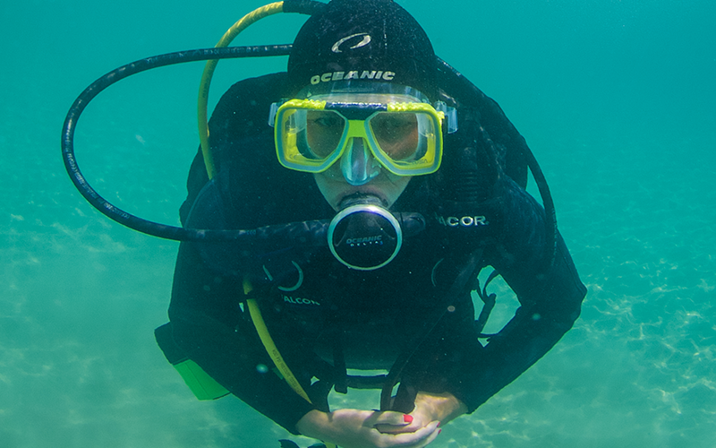 Diver training on PADI Courses in Malta while on holiday